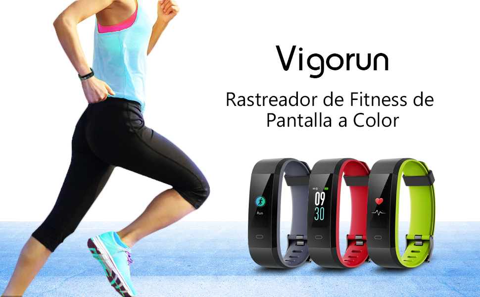 Pulsera Actividad Vigorun Pantalla Color Reloj con Pulsómetro ...