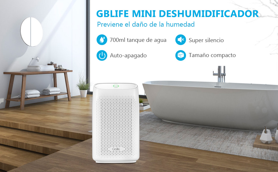 GBlife Deshumidificador de Aire Eléctrico, Deshumidificador Ultra ...