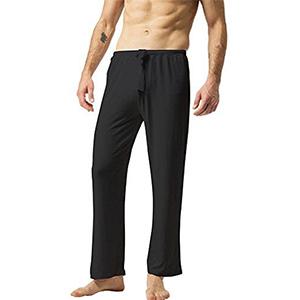 Tipo: Hombre Tela de 100% algodón 2 bolsillos. Cordones flexibles. Transpirable y sultos. Mejor uso Yoga, pilates,gimnasia, pantalones para artes marciales ...