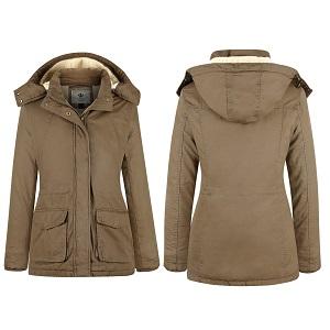 0b7b157cc29 Chaqueta de algodón casual con capucha mujer