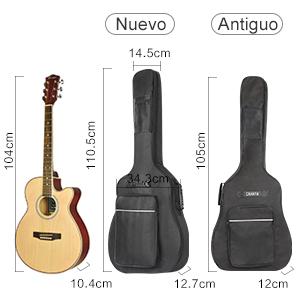 CAHAYA Funda de Guitarra Universal [Nuevo Versión Mejorada], Acolchada con 2 bolsillos para Guitarra Acústica, Clásica y Eléctrica con raya de color ...