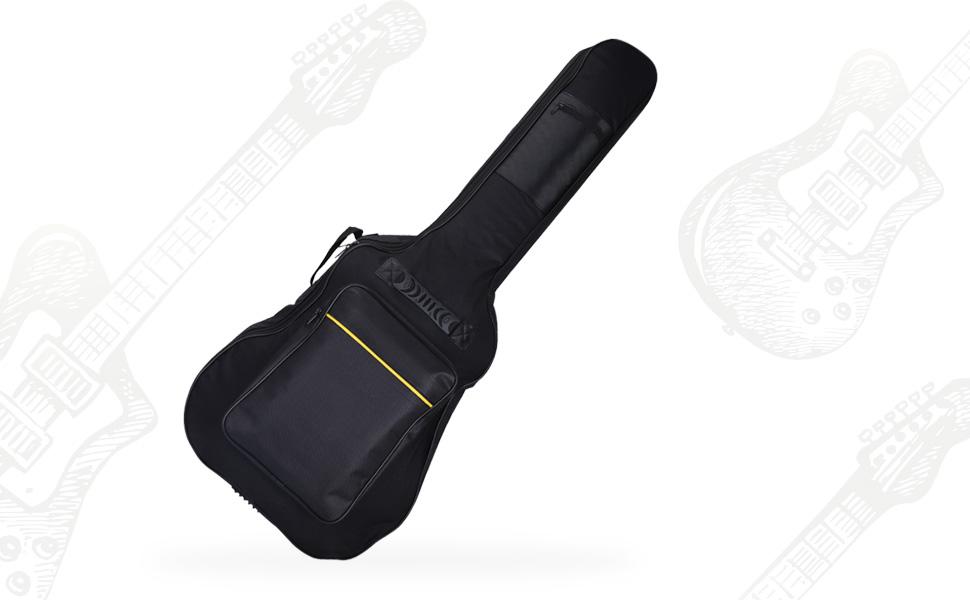Funda de Guitarra Universal CAHAYA, Acolchada con 2 bolsillos para ...