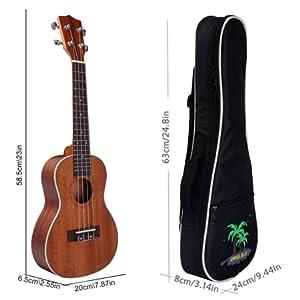 Este ukelele concierto dispone de un tamaño de 23 pulgadas (58,5 cm aproximadamente). El ukelele concierto es una variación del instrumento estándar de ...