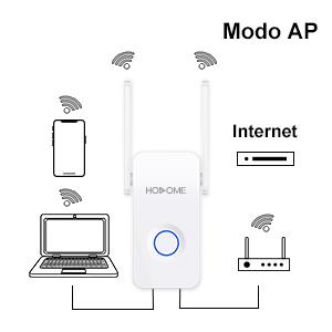 Hosome Repetidor de WiFi Inalámbrico 300Mbps Extensor de Rango WiFi Amplificador de Cobertura Modo Ap/Repetidor/Router/Cliente 4 en 1 Modo con Antena ...