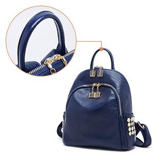 BOYATU Womens Cuero Genuino Mochila Mini Travel Bag Elegante Hombro Daypack