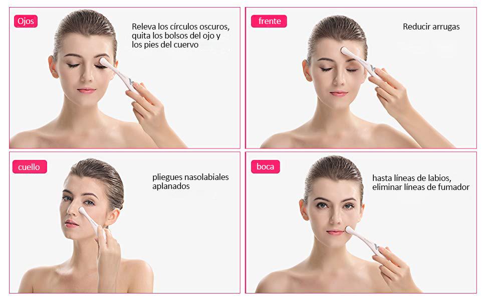 Masajeador de Ojos Anti-envejecimiento, LANWIND masajeador contorno de ojos con Sonic Vibración y 42 ℃ Calentado para Anti-arrugas Anti-círculos ...