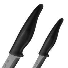 hecef Cuchillo de Cerámica Juego 5 en 3 Cuchillos de Cocina y 1 Pelador de Cerámica y 1 Afilador.