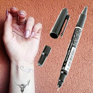 Anself Marcador para Tatuaje Rotulador Tinte de Doble Punta (Fino ...