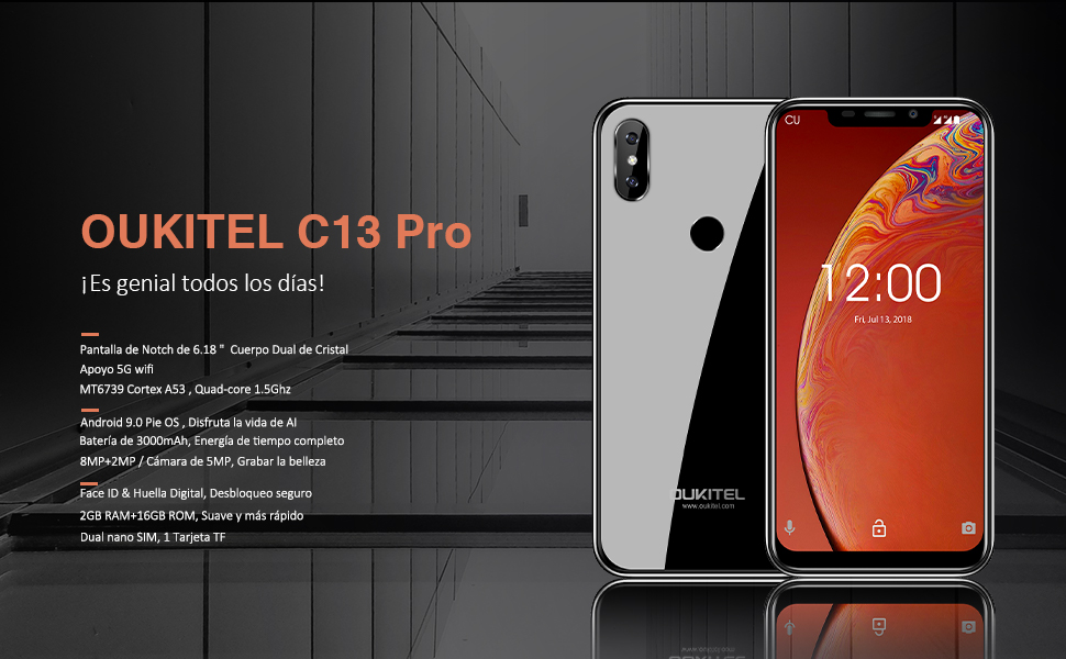 OUKITEL C13 Pro Android 9.0 4G LTE Smartphone Libre (SIM Dual ...