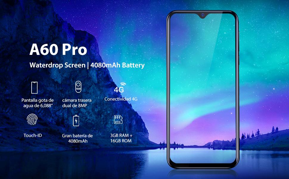 2019) Blackview A60 Pro Android 9.0 4G teléfono móvil Libre, 6.1 ...