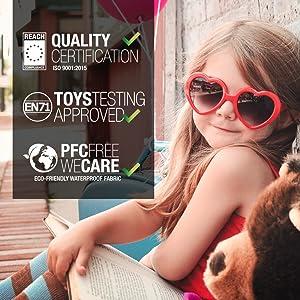 Certificaciones de calidad y seguridad para niños.