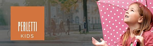 Colección de paraguas Perletti para niños y niñas.