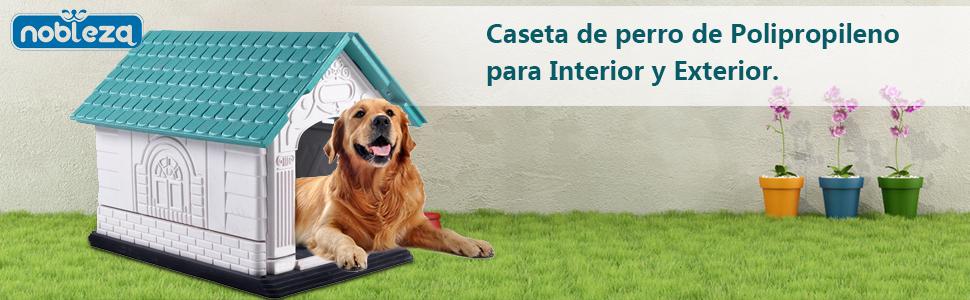 NOBLEZA - Caseta de perro de Polipropileno para Interior y Exterior.
