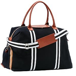 Saint Maniero® Bolsa de Viaje de diseño con Compartimento Extra para Zapatos – tamaño Ajustable Desde XL a Equipaje de Mano – Material Impermeable – ...