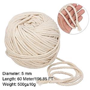 Cuerda algodón 3mm