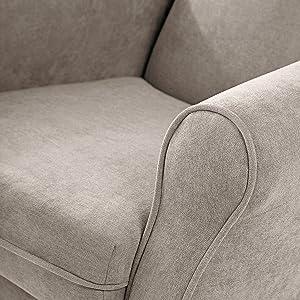 SUENOSZZZ - Sillon orejero balancin Mecedora. Irene (Sillon Lactancia) Sillón tapizado Antimanchas acualine Color Beige. Mecedora para Dormitorio, ...