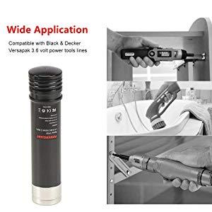 POWERGIANT 3.6V 2.1Ah Ni-Mh Batería para Black & Decker Versapak ...