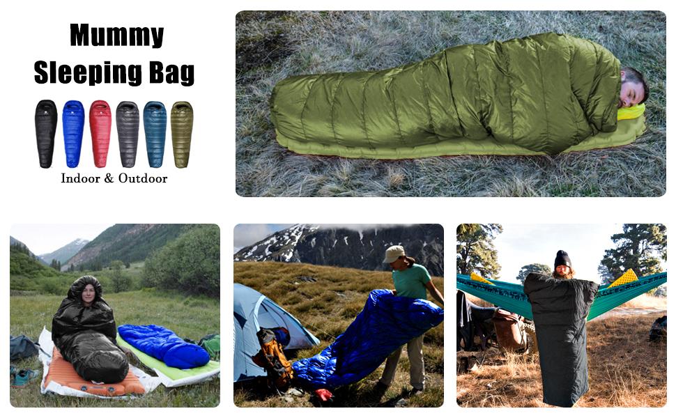 Instrucciones de lavado para un saco de dormir abajo