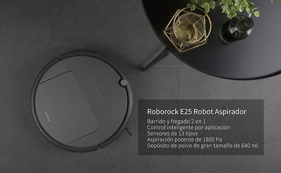 roborock Xiaowa E25 Robot Aspirador, Barrido y fregado, Aspirador ...