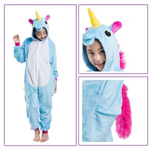 Niña Niño Unisex Animales Combinación de Disfraces de Halloween la fiesta de Pijamas de Camisón