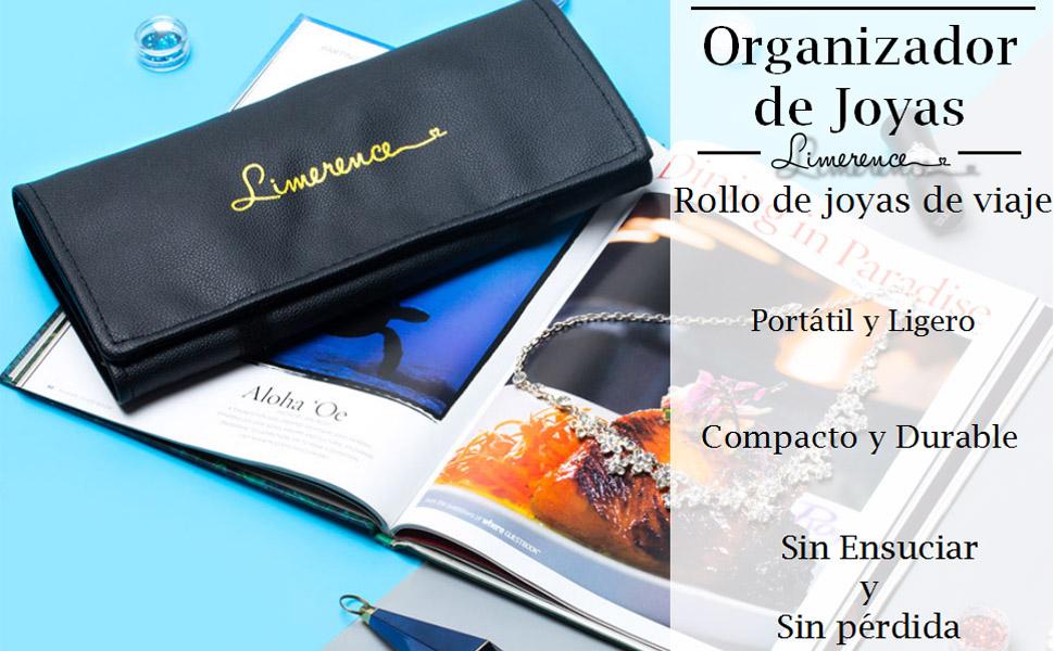 Limerence Rollo de Joyeros, Bolsa de Rollo de Joyas, Viajes Joyas Rollo de Bolsa Organizador,Viajes Joyas Rollo para Joyería, Organizador Bolsa Rollo ...
