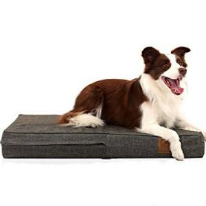 Laifug - Cama ortopédica para Mascota/Perro de Espuma viscoelástica, Forro Impermeable Durable y Funda extraíble Lavable de diseño Especial (Grande (117x71x10cm), Chocolate): Amazon.es: Productos para mascotas