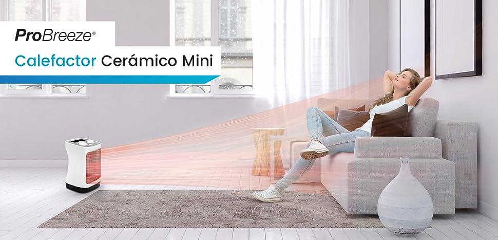 Pro Breeze 2000 W Mini Ventilador Calefactor Estufa de Cerámica: