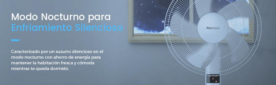 Pro Breeze Ventilador Pedestal de 40 cm con Control Remoto y ...