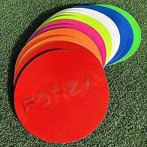 FORZA Marcadores Planos de Entrenamiento - Una Variedad de Colores Disponibles (10 Unidades) [Net World Sports] (Amarillo Fluorescente): Amazon.es: Deportes y aire libre