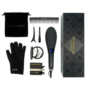 MadameParis - Cepillo Alisador de Pelo Profesional - Cepillo electrico - Edición Miracle - Plancha de Pelo