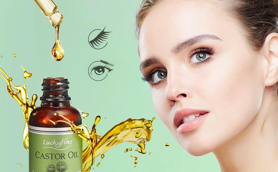 Aceite Crecimeinto de Pestañas 100% Natural, Aceite de Ricino Puro, Prensado en Frío, Pestañas Más Negras y Gruesas: Amazon.es: Belleza