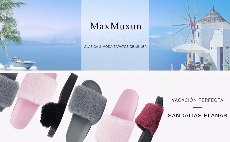 Falso Chanclas Pelo Amazon Para Con Zapatos Maxmuxun Y Mujer fwA6t6q