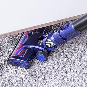 PUPPYOO 536 Aspirador Ciclónico Escoba Eléctrica Doméstica sin Bolsa Batería de Litio Desmontable Ultraligera Silenciosa Inalámbrica, azul