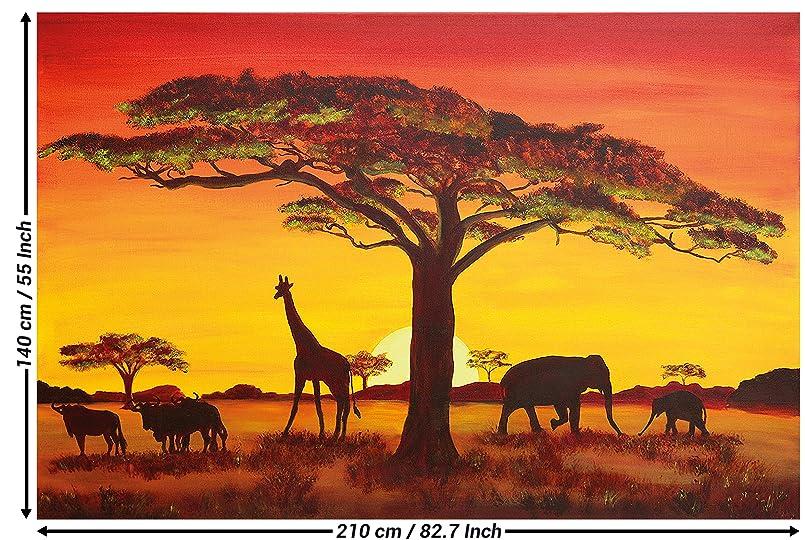 Papel pintado fotográfico, Puesta del Sol en África