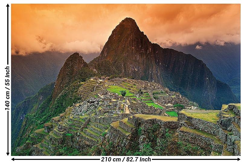 Fotomural naturaleza montaña Machu Piccu decoración cuarto Sudamérica Perú inca ciudad ruina I panorama papel pintado foto-mural papel tapiz foto póster ...