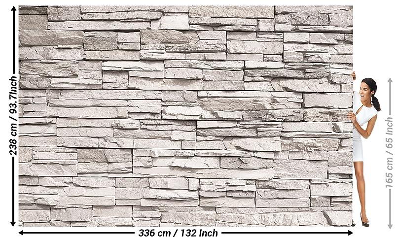 Foto mural White Stonewall Tapiz de piedra 3D Piedra Muro