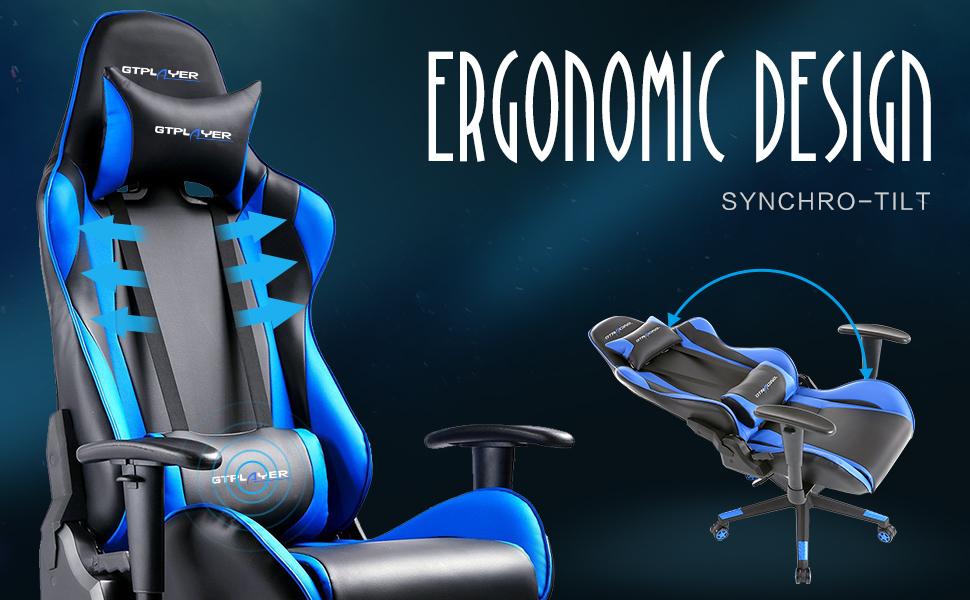 160° Ergonomica De Ajustables Garantía Gtplayer 2d Gaming Escritorio Año Silla 2 Respaldo Reclinable Oficina Reposabrazos HD9I2WE