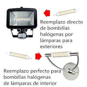 KINGSO 2 Pack R7s Lámpara LED 10W 1000LM 118mm Regulable Luz Lineal 360° Ángulo de Haz, Blanco Cálido 2700K AC 220V-240V, Equivalente a la Lámpara ...