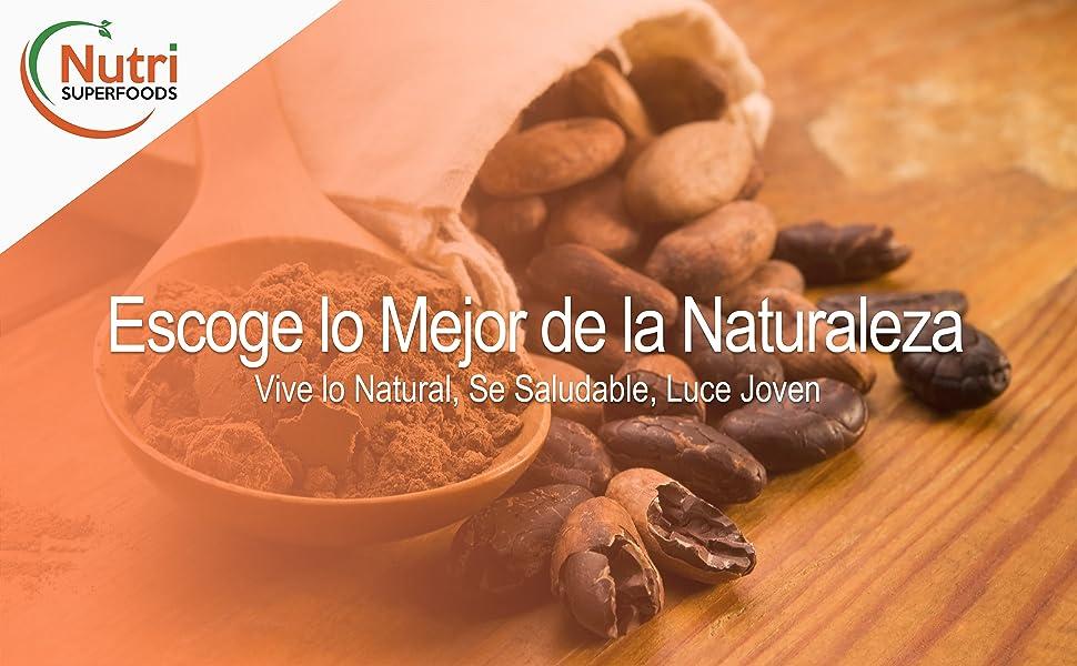 Puntas de Cacao Orgánicas Crudas (Nibs), Chocolate Negro Puro Vegano, Sin Azucares Añadidos, Rico en Magnesio, Ideal para preparar platos, Batidos ...