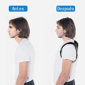 Resultado de imagen de corrector de postura antes y despues
