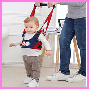 Happy Cherry - Arnés de Seguridad para Caminar para Bebés más de 8 meses Tirante Cinta Ajustable para Primeros Paso Aprender Andar - Amarillo