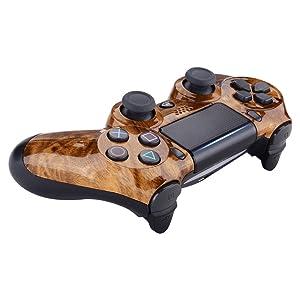 eXtremeRate Carcasa Mando PS4 Funda Delantera Protectora de la Placa Frontal Cubierta reemplazable para Mando del Playstation 4 PS4 Slim Pro con ...
