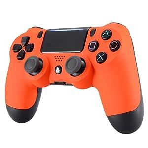 eXtremeRate Carcasa Mando PS4 Funda Delantera Protectora de la Placa Frontal Cubierta esmerilada reemplazable para Mando del Playstation 4 PS4 Slim ...