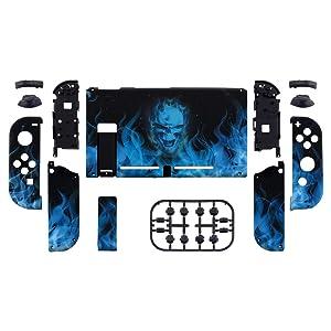 eXtremeRate Carcasa para Nintendo Switch,Funda Completa para Mando Controlador Consola Joy-con de Nintendo Switch Shell de Bricolaje reemplazable con Botón Completo (Llama Azul): Amazon.es: Electrónica