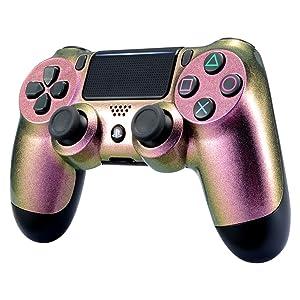 eXtremeRate Funda Delantera Carcasa Protectora de la Placa Frontal Cubierta reemplazable para el Mando del Playstation 4 PS4 Slim Pro con JDM-040 ...