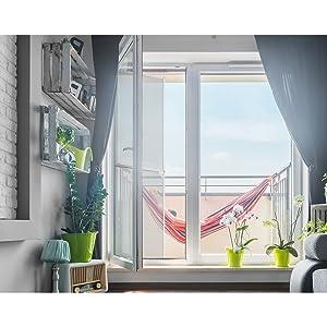 ECD Germany Mosquitera Enrollable para Puerta Ventana Color Blanco Resistente a la Intemperie 100x220 cm Tela de Fibra de Vidrio Armazón de Aluminio Malla Protectora Hogar contra Insectos Mosquitos: Amazon.es: Hogar