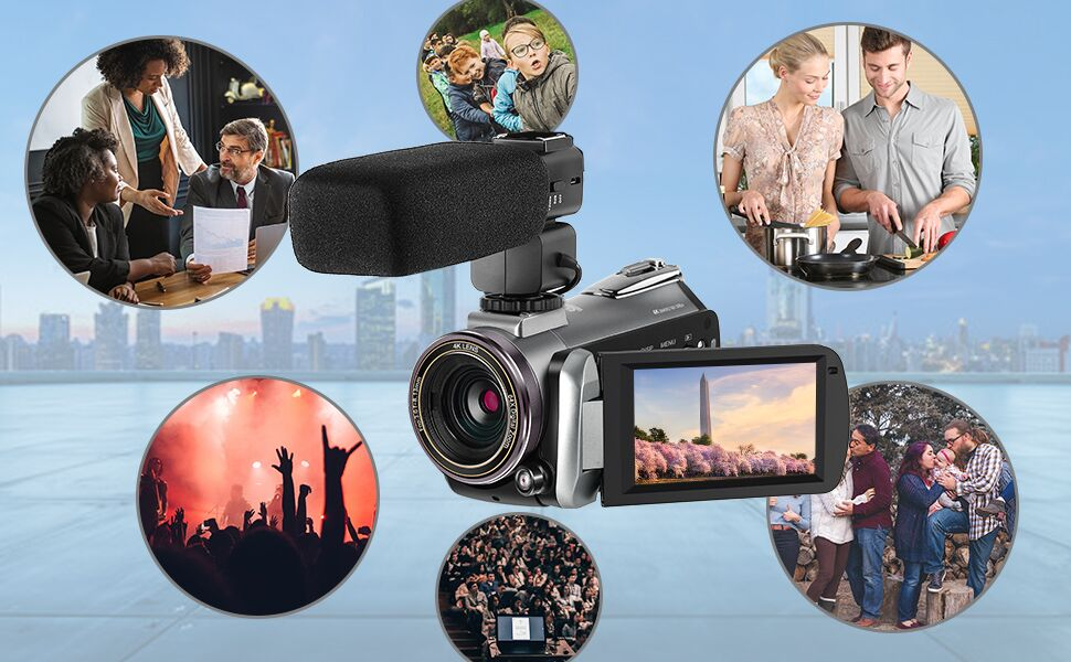 Videocámara 4K ORDRO AZ50 Cámara de Video 4K 30FPS Visión Nocturna ...