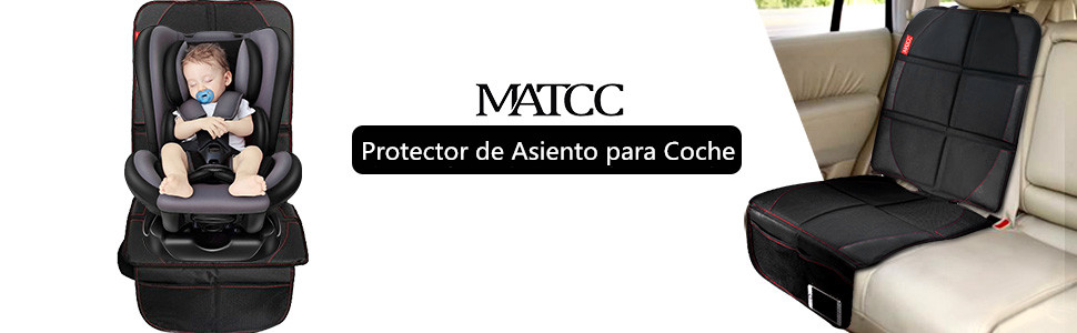 MATCC Protector de Asiento Coche Asiento Infantil Funda Asiento Coche Antideslizante Impermeable Universal Negro