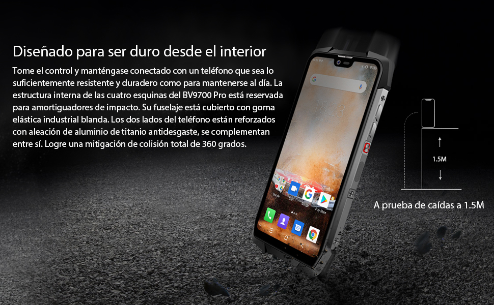 Blackview BV9700 Pro movil antigolpes Todoterreno - 5.84 Pulgadas FHD + IP68 Smartphone Resistente Agua y Golpes, Helio P70 6GB + 128GB Android 9.0, ...