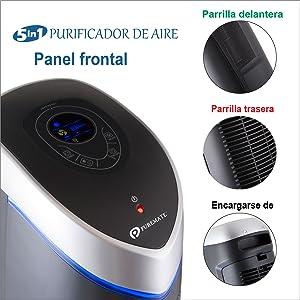 PureMate® PM 510 Múltiple Technologies Auténtico HEPA Purificador ...